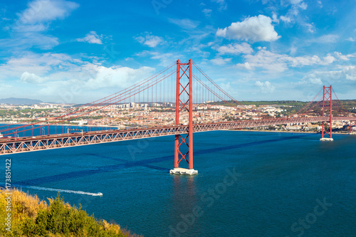 Poster 25th of April Bridge in Lisbon