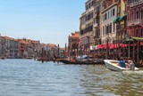 Venice - View from water street to old buildings