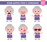 Senior woman poses and expressions (Vol. 7 / 8) - 173892078