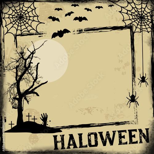 Aluminium Vintage Poster Vintage Halloween poster or frame