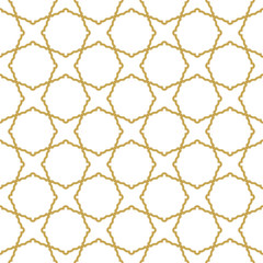 Seamless golden ornament in arabian style. Geometric abstract background. Pattern for wallpapers and backgrounds