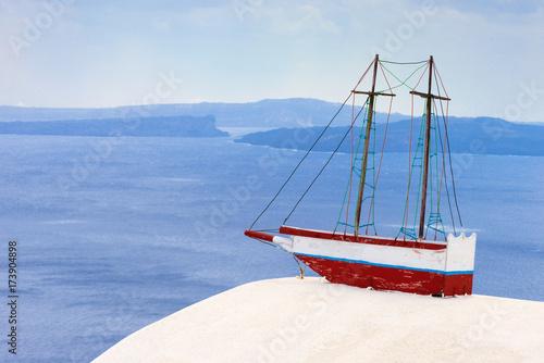 Fotobehang Schip antike segelschiff im sommer