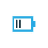 Low Battery Colorful Icon Symbol. Premium Quality Isolated Charge Element In Trendy Style. - 173911467