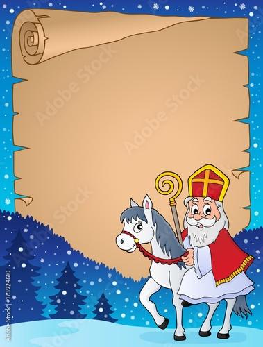 Deurstickers Voor kinderen Parchment with Sinterklaas theme 3