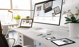Modern office we design screen devices. - 173926842