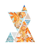 Abstract autumn geometric poster. - 173928271