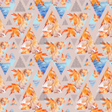 Abstract geometric background in retro vintage 80s 90s pop art. - 173928416
