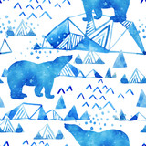 Abstract watercolor arctic winter background. - 173928839