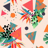 Abstract tropical summer design in minimal style. - 173930424
