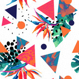 Abstract tropical summer design in minimal style. - 173930460