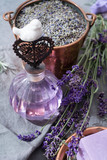 Lavender perfume oil, made from fresh lavender flowers, aroma spa treathment and bodycare for women - 173932035