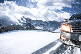 car and winter road  - 173938486