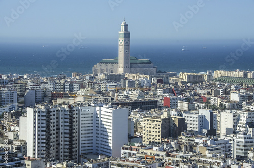 City panorama. Casablanca, Morocco. Africa