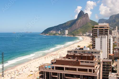 Fotobehang Rio de Janeiro Ipanema and Leblon Beaches, Rio de Janeiro, Brazil