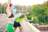 Happy Couple Exercising - 173947653