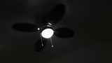 Ceiling fan, spooky footage of household equipment spinning - 173948436