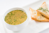 broth with pies - 173952253