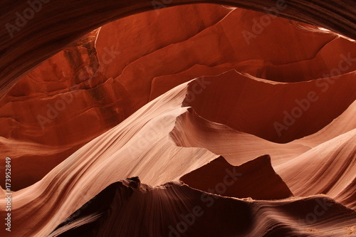 Deurstickers Rood paars Scenic canyon Antelope background