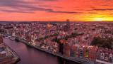 Zachód słońca nad Gdańskiem - 173957002