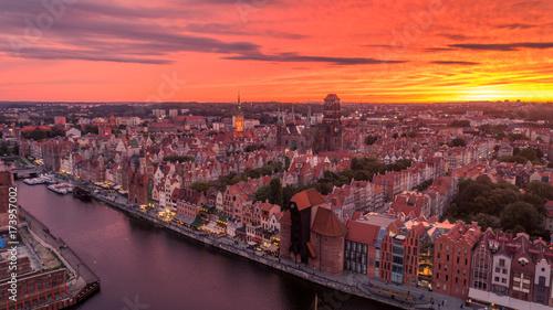 mata magnetyczna Zachód słońca nad Gdańskiem
