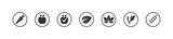 Vegan bio icons set - 173958082