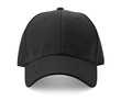 Black cap isolated on white background.