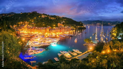 Fotobehang Liguria Portofino at Night