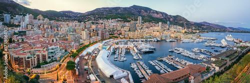 Fototapeta Monaco Port Sunset view