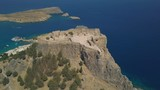 Aerial view of ancient Acropolis of Lindos, Rhodes, Greece - 173994878