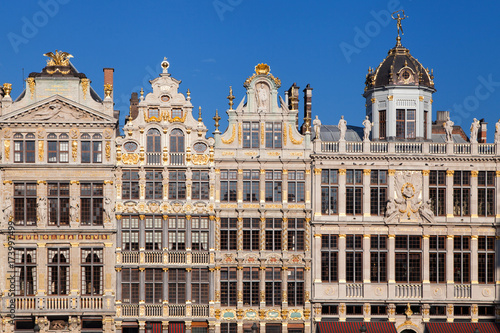 Foto op Canvas Brussel Old Guild Houses at the Grand Place