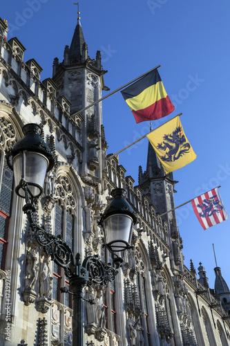 Deurstickers Brugge Provinciaal Hof - Bruges - Belgium.