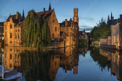 Foto op Aluminium Brugge Bruges in Belgium - The Rozenhoedkaai