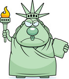 Angry Cartoon Statue of Liberty - 174004465