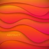 Vibrant orange paper cut background - 174004680