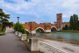 Ponte Pietra bridge in Verona - Italy - 174016601