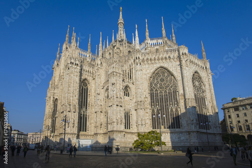 In de dag Milan Milan; the cathedral,