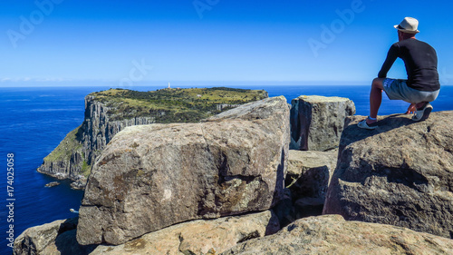 Foto op Aluminium Bleke violet Hiking Cape Pillar in the south of Tasmania