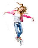 Young woman hip hop dancer jumping in the air - 174030440