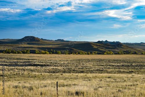 Deurstickers Blauw American West