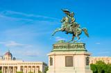 Equestrian monument of Archduke Charles on Heldenplatz in Vienna, Austria - 174049056