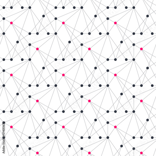 Abstract geometric pattern with thin lines and dots - 174051672