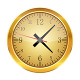 Realistic clock isolated. Vector Illustration