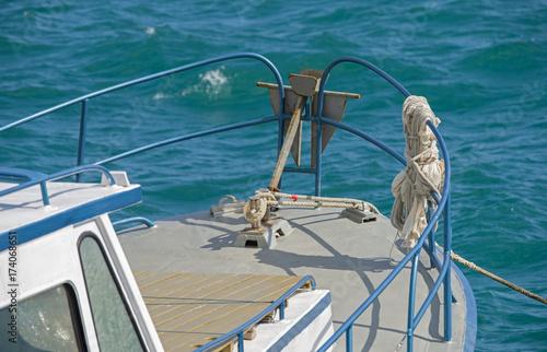 Aluminium Zeilen A fishing boat