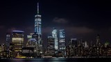 Lower Manhattan and Freedom Tower at Night Timelapse - 174093839