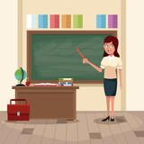Teacher in classroom icon vector illustration graphic design - 174120241