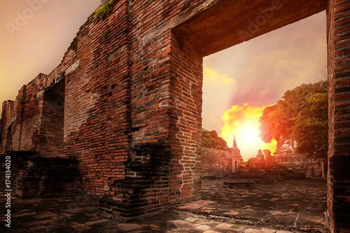 wat ratchaburana temple most popular traveling destination in ayutthaya world he Poster