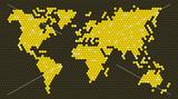 Honeycomb world map (16:9)