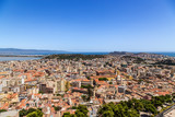 Cagliari, Sardinia, Italy. Picturesque view of the city by the sea - 174163423