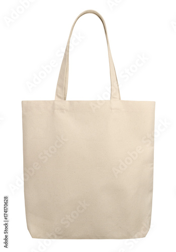 Fabric bag isolated on white background. © Chirawan