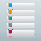5 Colored Tabs Mirror - 174177049